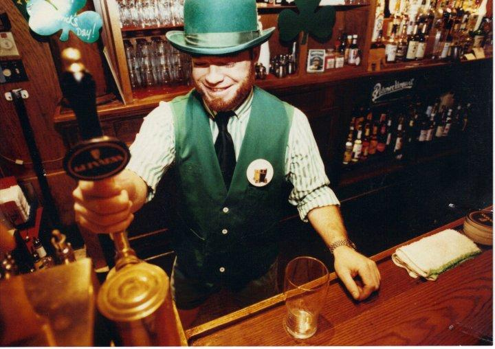 Lucky Pouring a Pint
